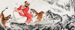 罗汉说法图 著名国画家王文强龙8国际官方网作品
