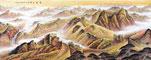 中国魂 王宁八尺横幅金色长城山水画《中华之魂》