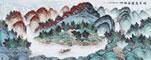 吳大愷風水畫聚寶盆作品《時來運轉居福地》
