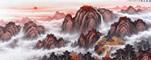 五岳獨尊大靠山 王寧八尺國畫泰山圖《鴻運當頭》