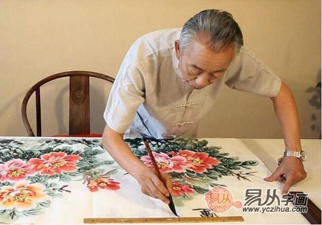 画中有情思 笔墨显实力 当代写意牡丹王石开佳作欣赏