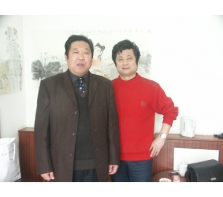 與著名畫家姜也先生合影