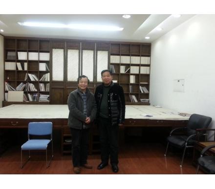 與著名畫家、中國藝術研究院副主任韓學中先生合影