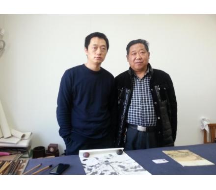 與著名畫家、天津美院教授周午生先生合影