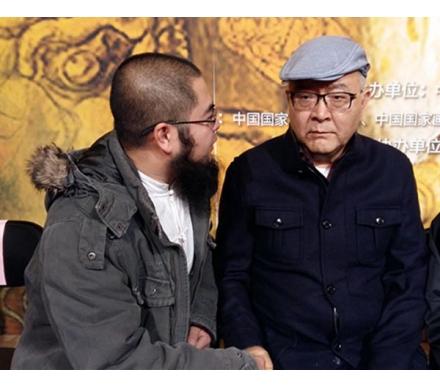 著名藝術家龍瑞先生和吳大愷合影