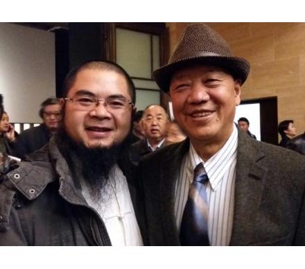 藝術家尼瑪澤仁先生和吳大愷合影