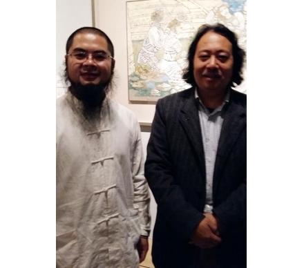藝術家賈廣健先生和吳大愷合影