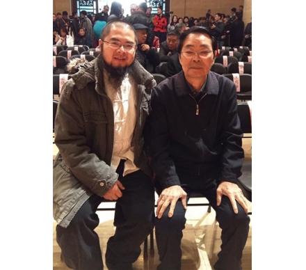 藝術家黃格勝先生和吳大愷合影