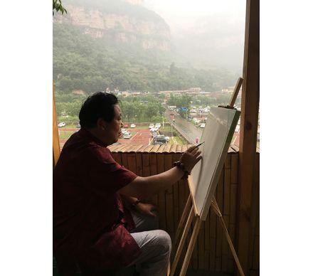 石榮祿老師走進山間寫生
