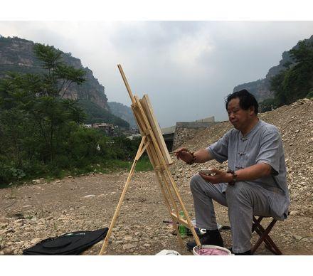 石榮祿老師太行山寫生