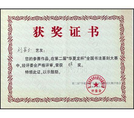 華夏龍杯獲銀獎
