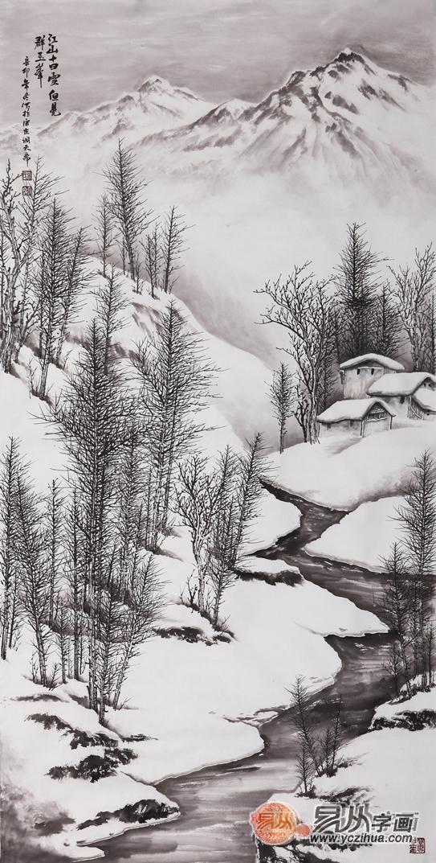 冰雪山水画画法的经典技巧