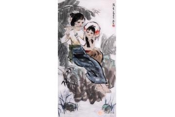刘一鸣人物画《清音》