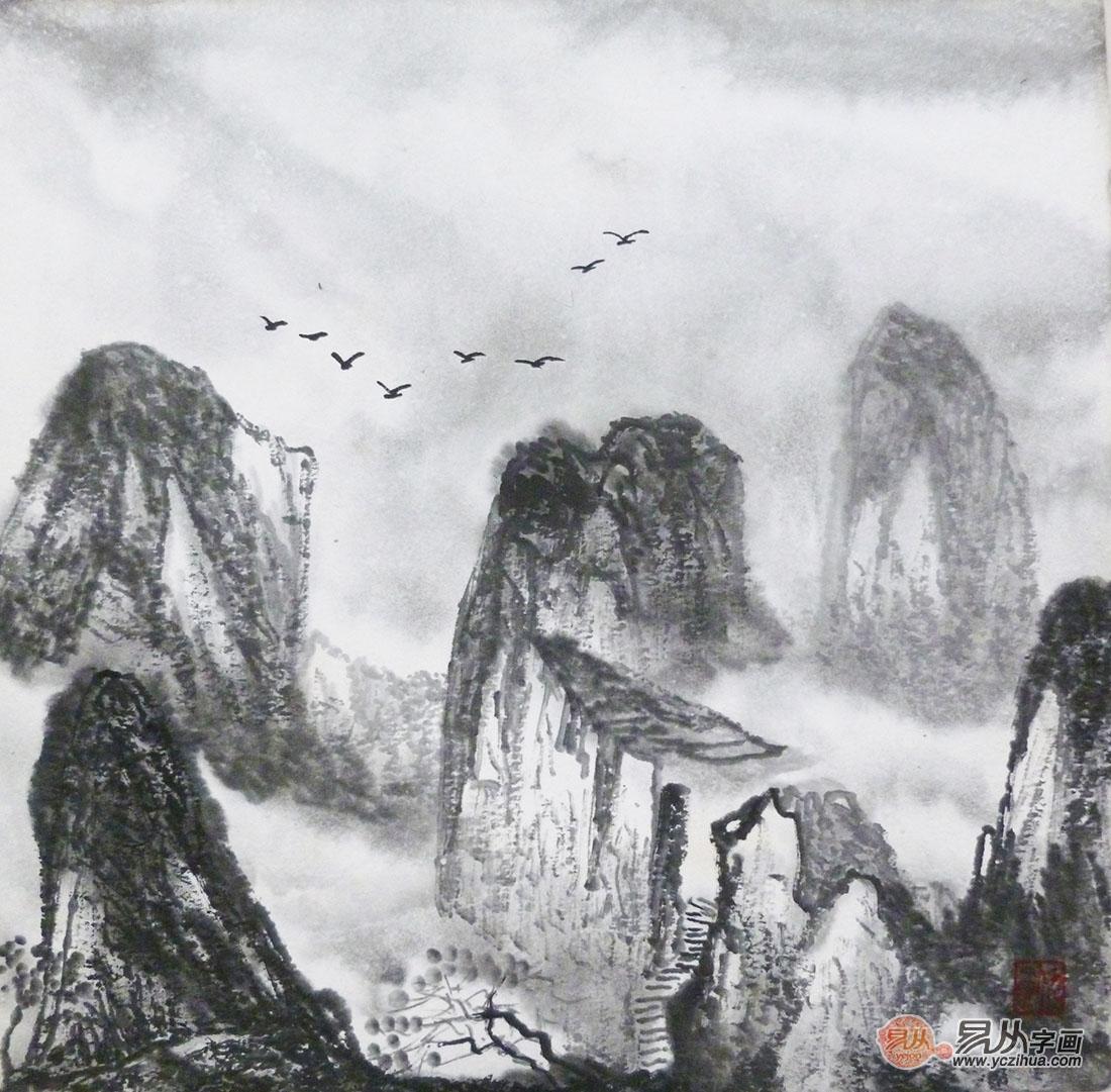 微信背景墙山水图片
