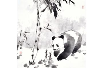 竹子图《熊猫》