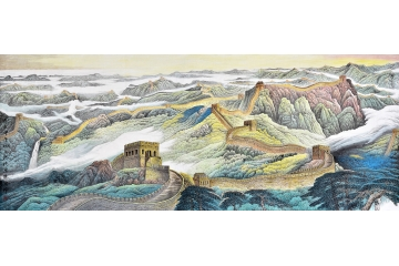 李林宏大尺寸横幅山水画作品中国魂《万里长城》