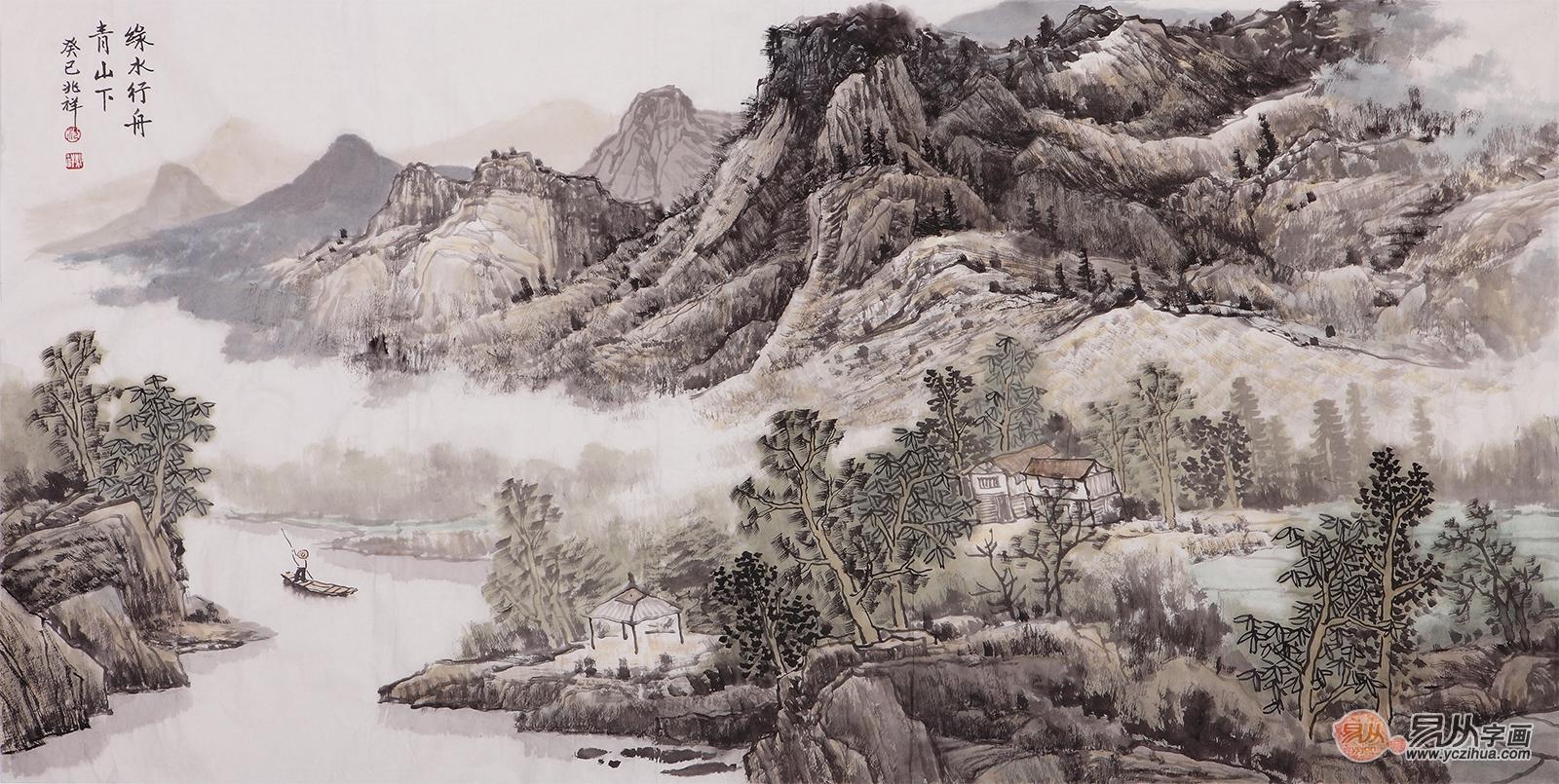 收藏佳作,沈兆祥有意境的山水画