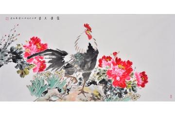 结婚生子茶楼易水写意动物画-【易从网】