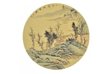 李林宏小尺寸山水画作品《乾坤一亭》