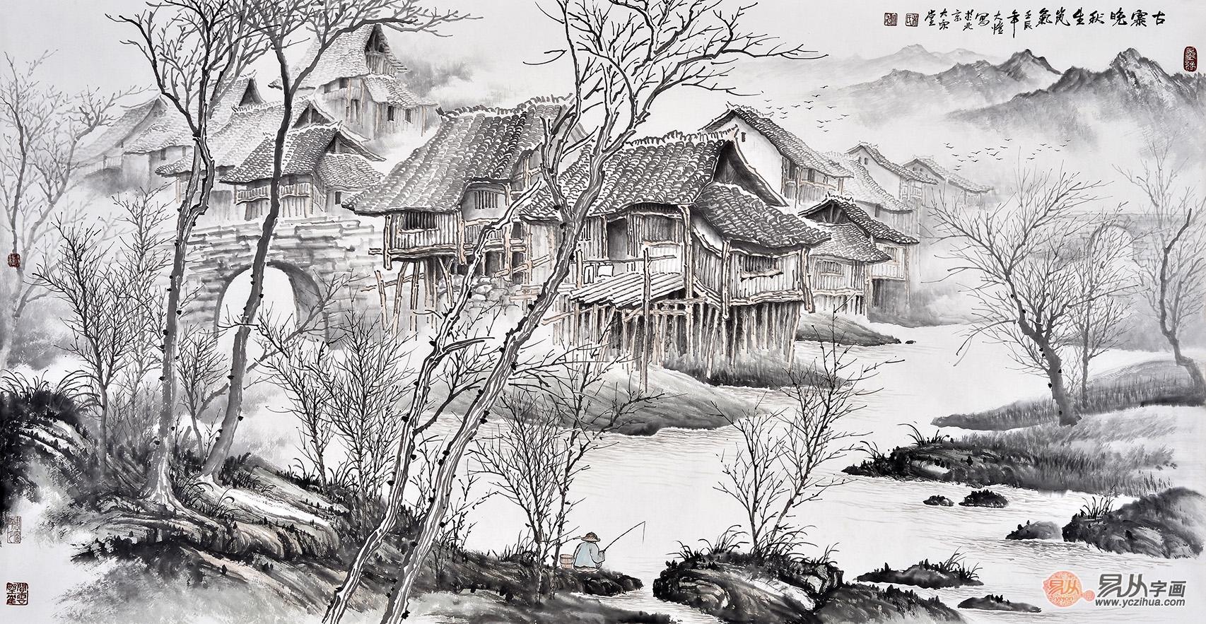 古代山水画大师:关仝_古代名家_古今名家_【易从网】