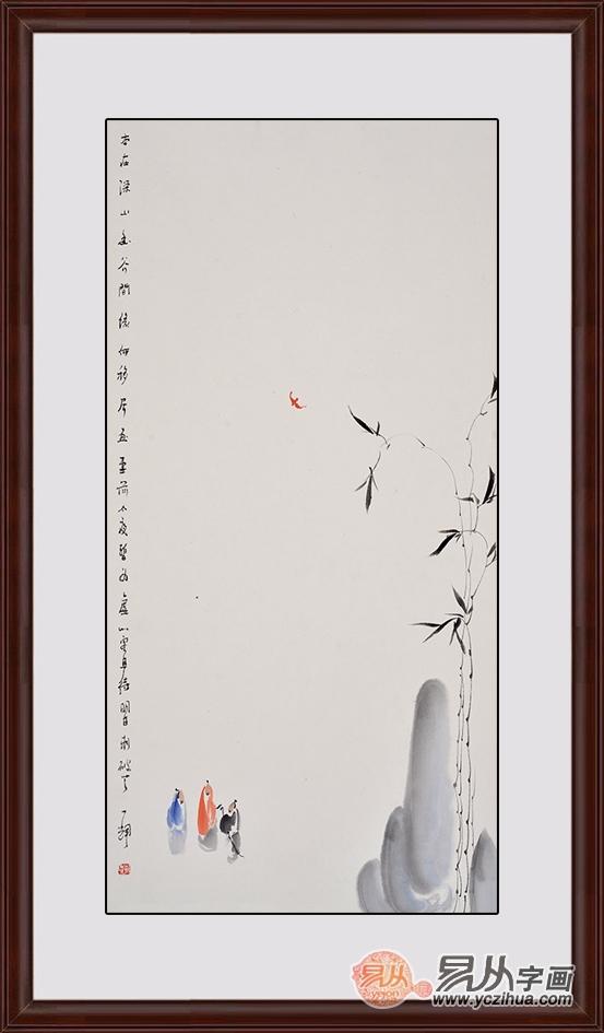 当代国画精品 赵一辉写意人物画《缘何移居画堂前》