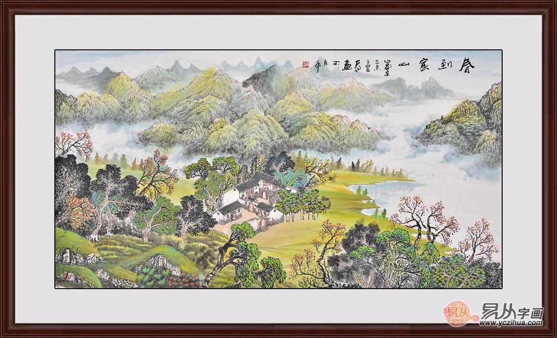 山水画,挂在客厅,彰显一种时尚
