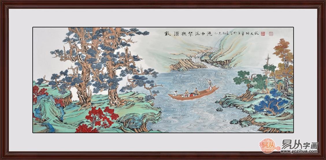 明代书画家董其昌古朴典雅的山水画作品赏析图片