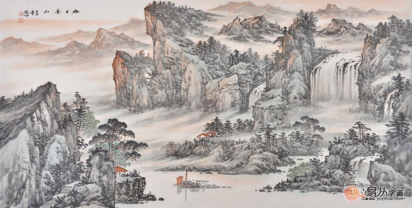 名家国画山水画 高山流水 意境深邃的收藏佳作!