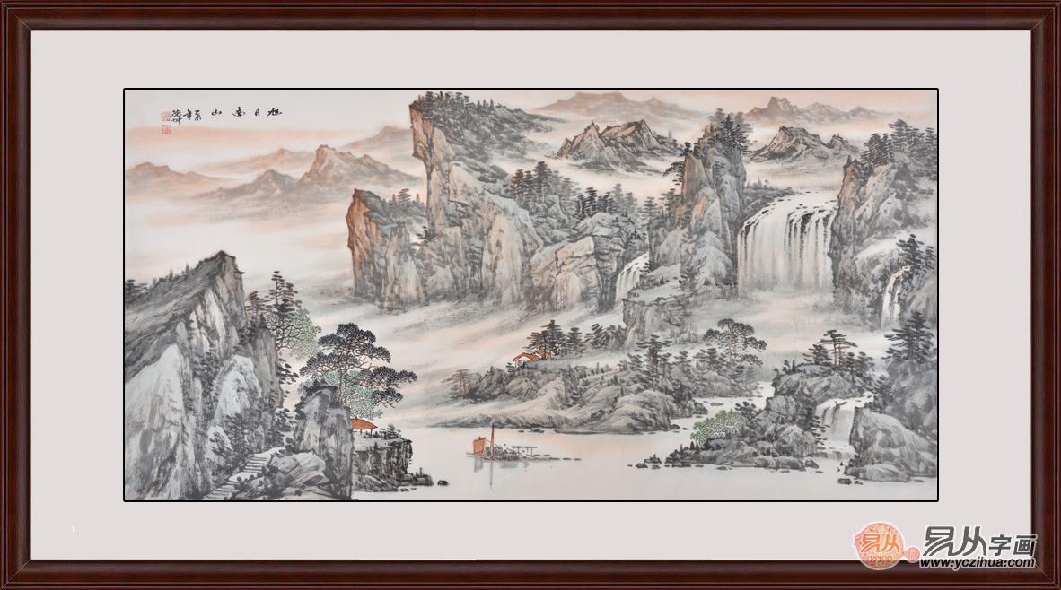 适合客厅悬挂的山水画 这样的挂画我也想要!