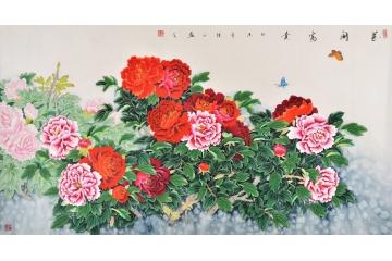 张洪山花鸟画作品《花开富贵》