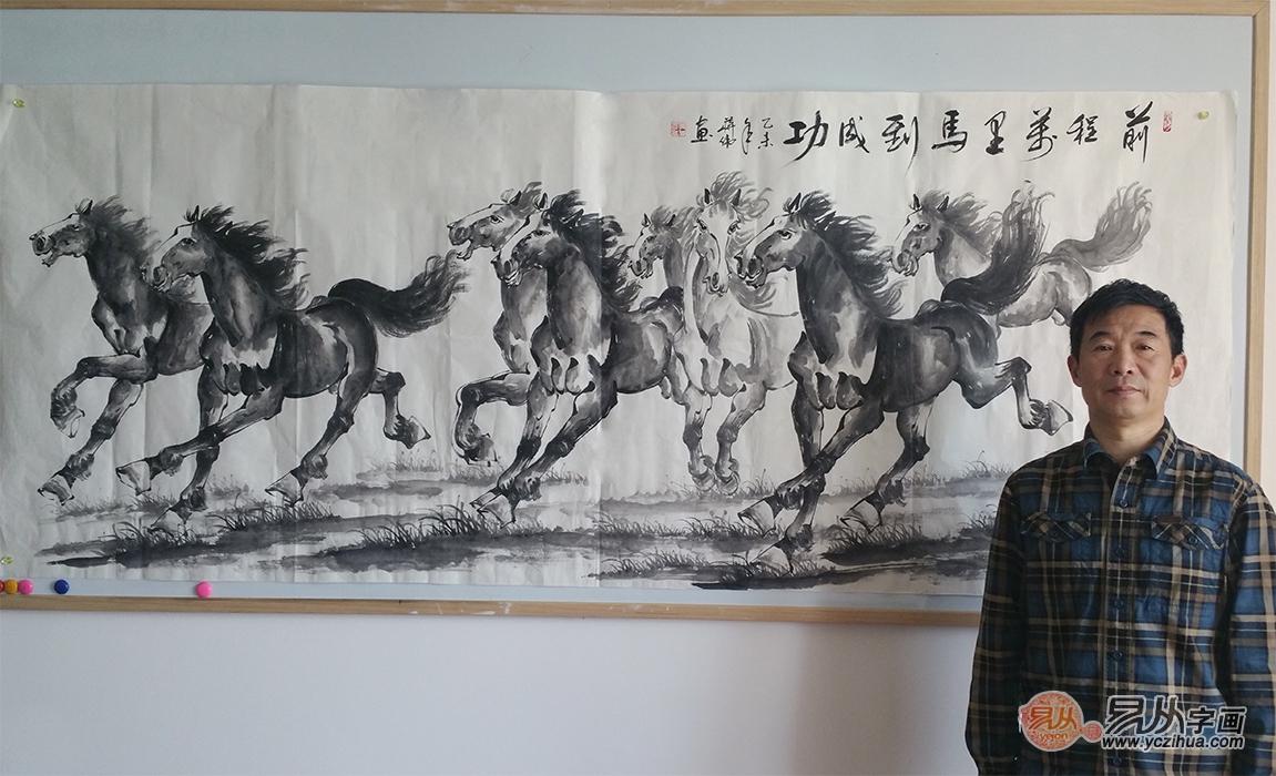 蒋伟写意动物画作品《前程万里