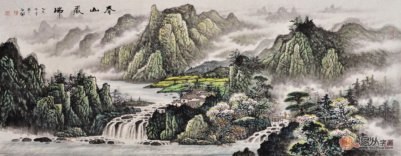 鲁人石开山水画 一场来自田园的艺术盛宴