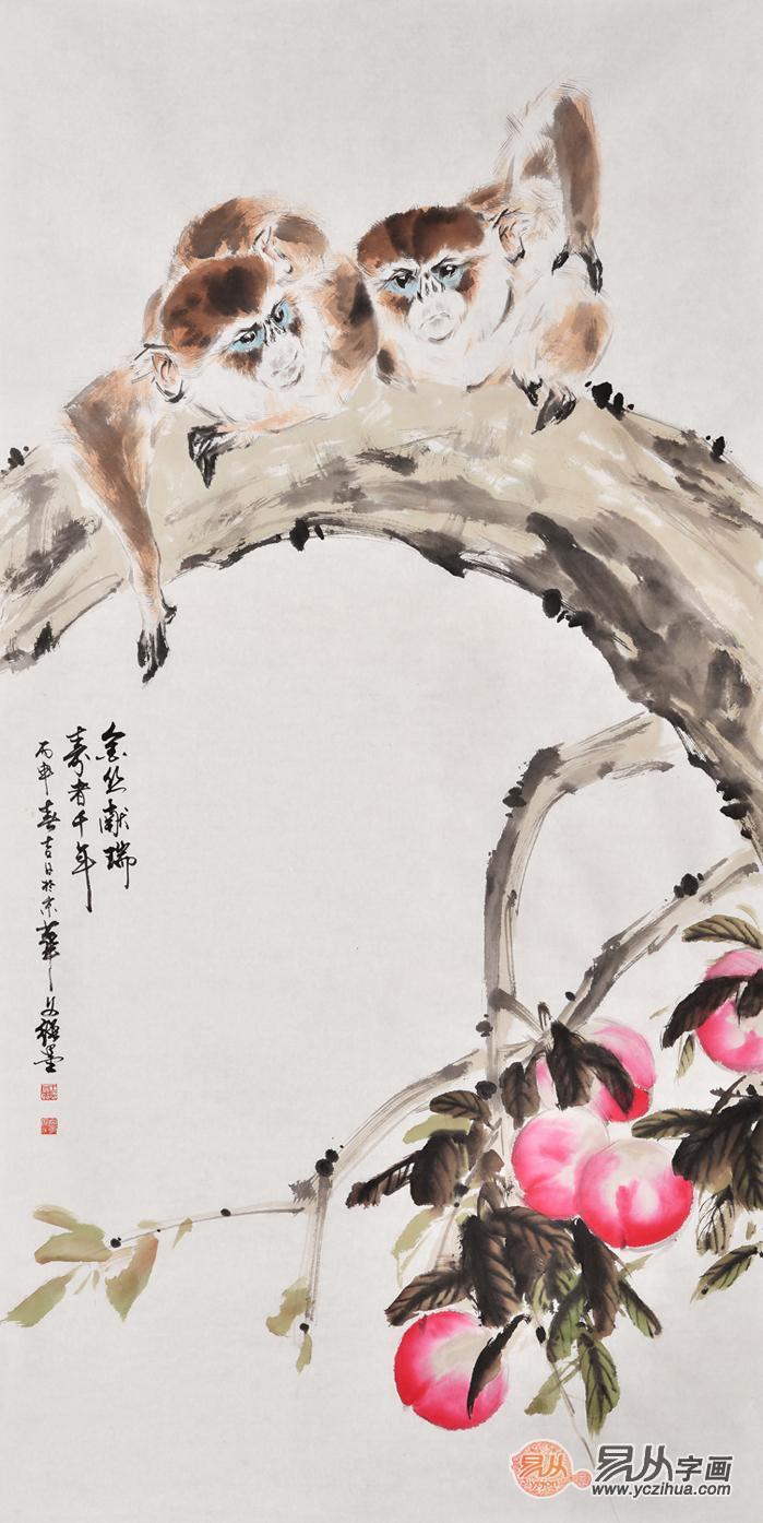 写意动物画欣赏 王文强动物画作品
