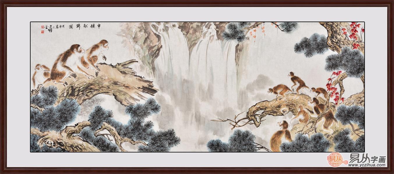动物色彩装饰画拉近家与自然的距离
