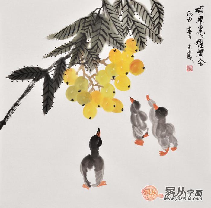 高清莲花手绘作品