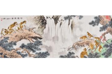 过节送礼八尺横幅大厅走兽图500元以下动物画-【易从