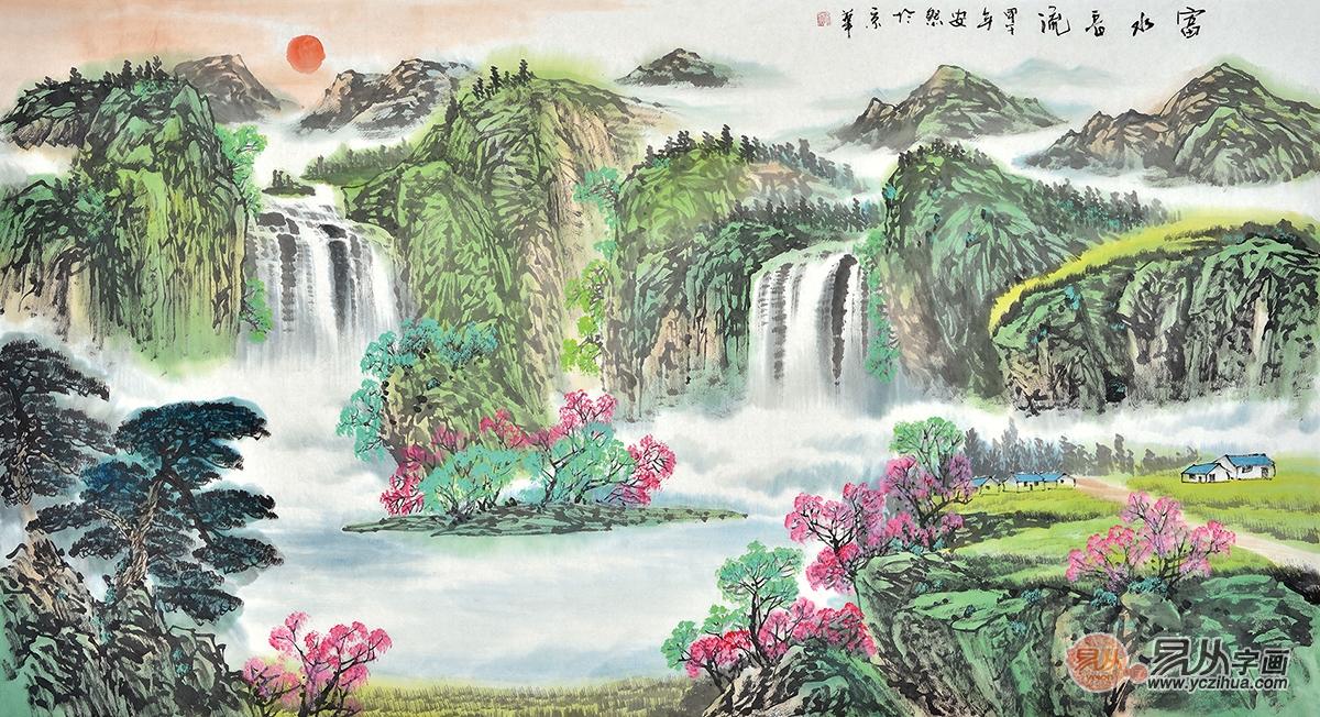 宋代山水画代表,一代大师赵伯驹青绿山水画的艺术特色