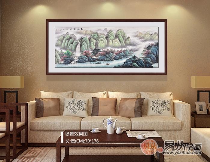 沙发背景墙装饰画尺寸一般都是选择多大的