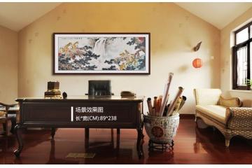 书画名家王文强八尺横幅国画猴子《申猴献瑞》场景