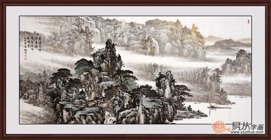 中国当代国画大师林德坤山水画作品(组图)欣赏