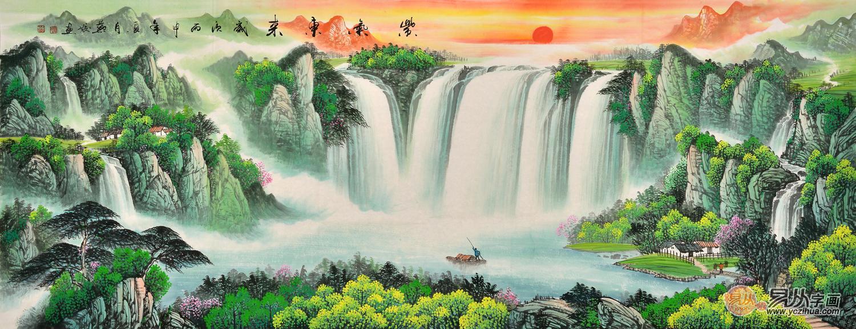 暖色系中国山水风景