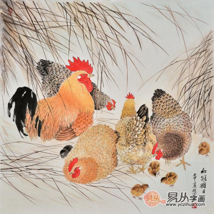 当代工笔画画家羽墨温馨动物画欣赏