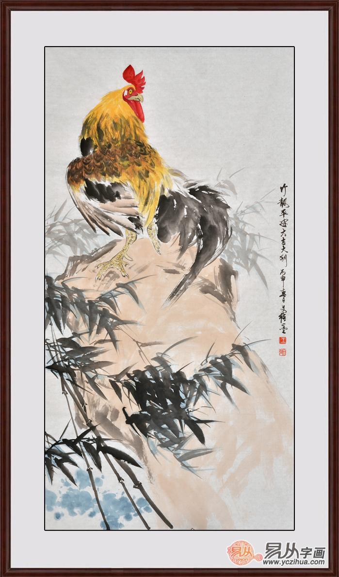 吉祥动物画——当代名家王文强写意动物画鸡