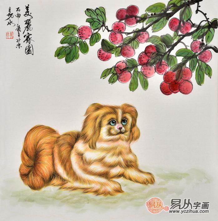 典雅灵动的动物画