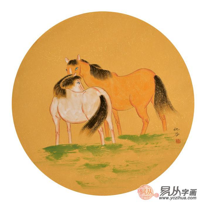 当代画家仇谷生肖动物画作品欣赏