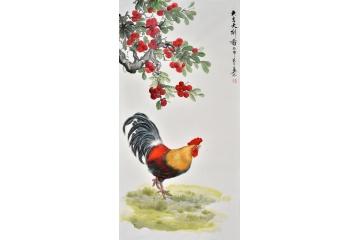 客厅装饰画 易水四尺竖幅动物画