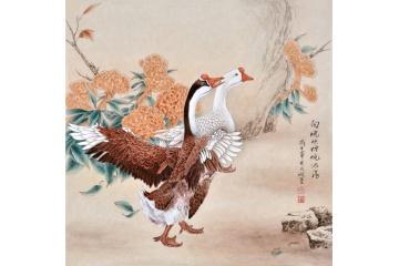羽墨工笔动物画