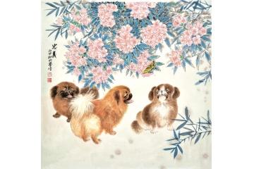 羽墨温馨工笔动物画