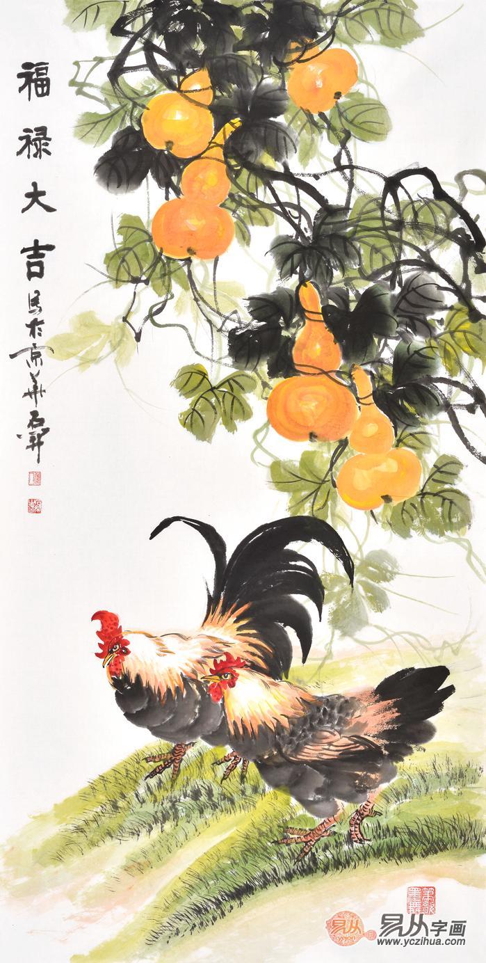 国画葫芦叶子的画法 名家葫芦图欣赏