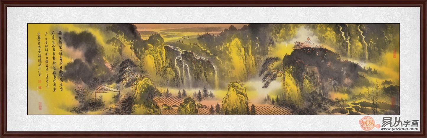 供应产品 03 电视墙画 打造高端大气上档次     吉林大山水画家